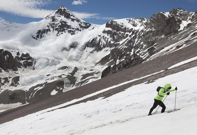 Fernanda Maciel run in Cerro Aconcagua in Mendoza, Argentina on January 11th, 2016