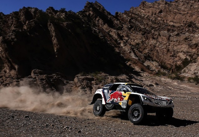 300 PETERHANSEL STEPHANE (fra) COTTRET JEAN PAUL (fra) PEUGEOT TEAM PEUGEOT TOTAL 3008 DKR action during the Dakar 2017 Paraguay Bolivia Argentina , Etape 10 - Stage 10, Chilecito - San Juan,  January 12 - Photo Benjamin Cremel / DPPI