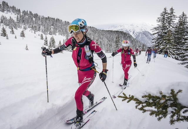 pierra menta 2017, day 1, Laetitia Roux and Emelie Forsberg, 2nd place.