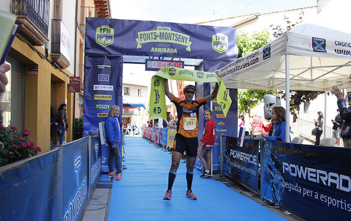 Toti Bes Llegada Trail Fonts del Montseny 2018 Sportvicious