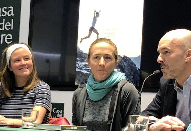 Emelie Forsberg y Núria Picas Presentación libro Correr y Vivir 2019 Sportvicious