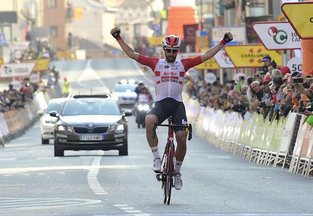 Thomas De Gendt ganador de la primera etapa de la Volta a Catalunya que se ha disputado en Calella - Sportvicious